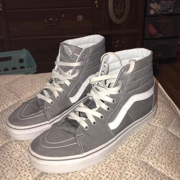 Vans Shoes | Vans Gray High Tops | Poshmark